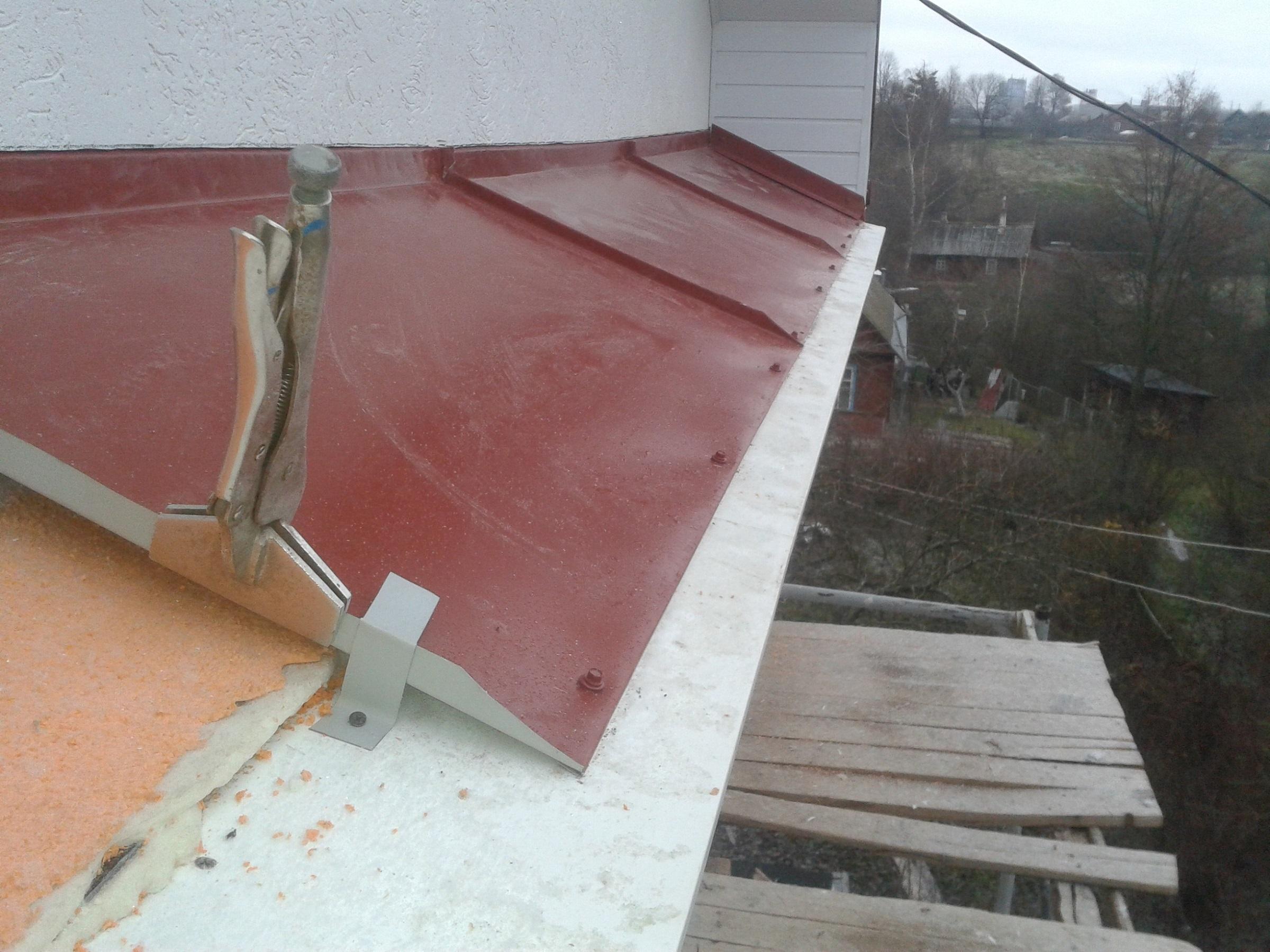 Крыша на балкон фото, как сделать крышу на балкон цена 26